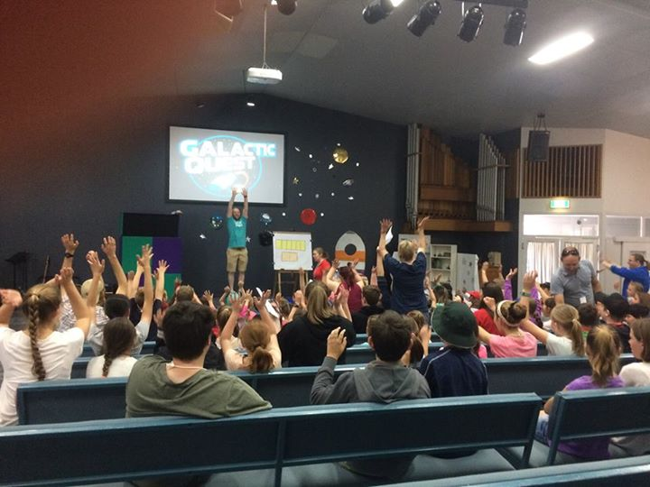 Holiday Bible Club Day 1! P-6 kids welcome, everyday 9-12 this week, rego from 8…