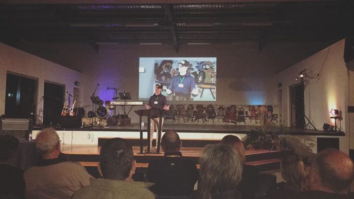 Mike Dicker from YouthWorks speaking on Psalm 133 at the South West Qld Christia…