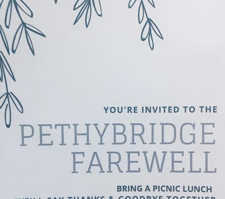 A chance to say Thanks & Goodbye to the Pethybridge family – We hope to see …