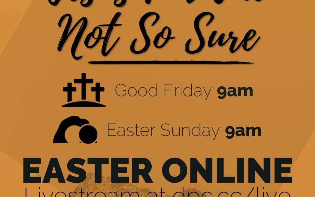 Are you curious about Jesus?  Not so sure what Easter is really all about?  Join…