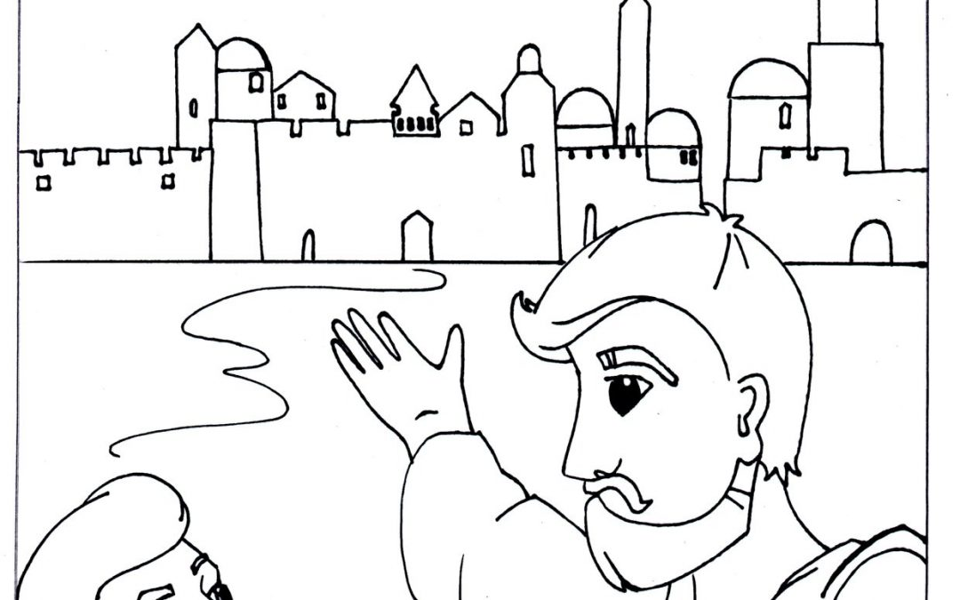 Here's a page for kids to colour in during the online sermon tomorrow. It's an o…