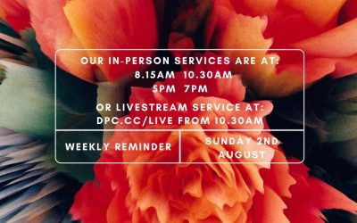 Join us this Sunday (2nd August) as we meet together in-person as well as we Liv…