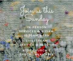 Join us this Sunday (15th November) as we come together in person & as we Li…