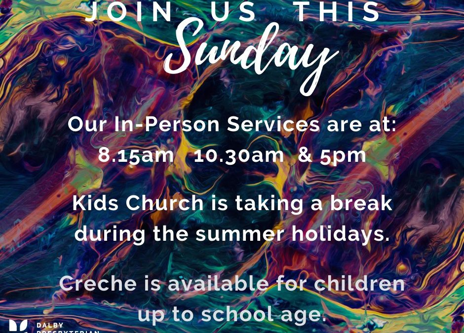 Join us this Sunday (17th January) for our church services. These are at 8.15am,…