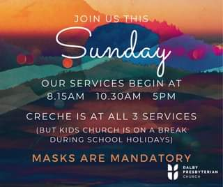 Join us this Sunday (11th April) for our church services beginning at 8.15am, 10…