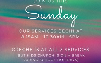 Join us this Sunday (18th April) for our church services beginning at 8.15am, 10…